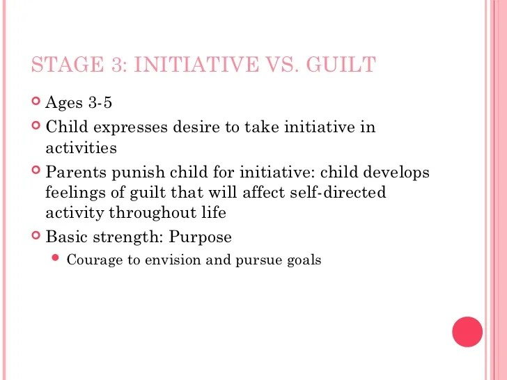 eriksons stages initiative vs guilt