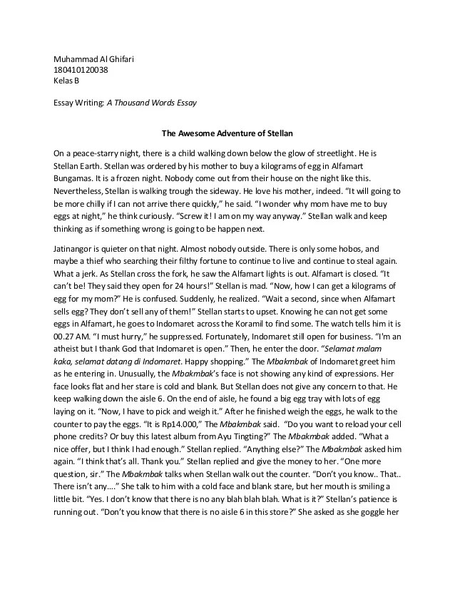 750 word essay