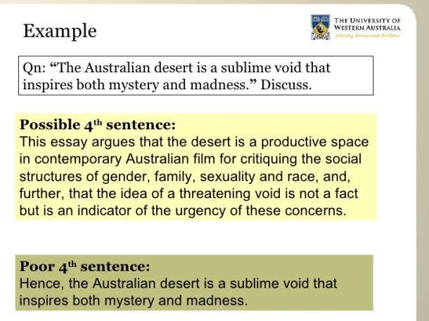 Howto Structure Sentences in a Essay