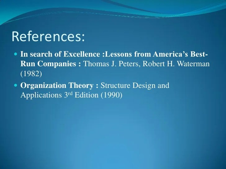 Excellence Approach