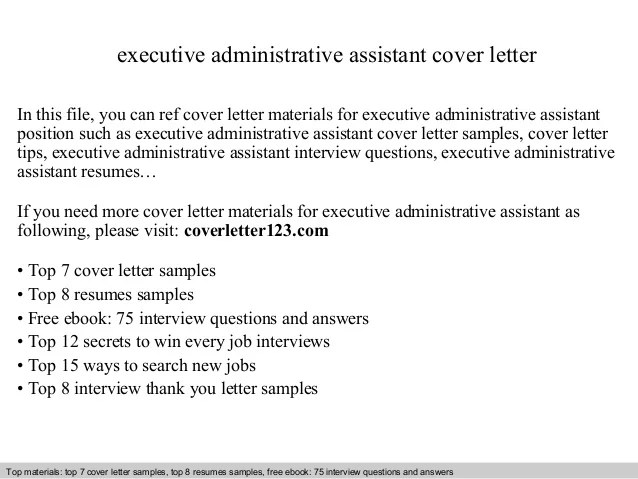 Administrative Assistant Executive Assistant Cover Letter Samples Cover  Letter Example Executive Assistant Elegant Executive Assistant CL Elegant  ...