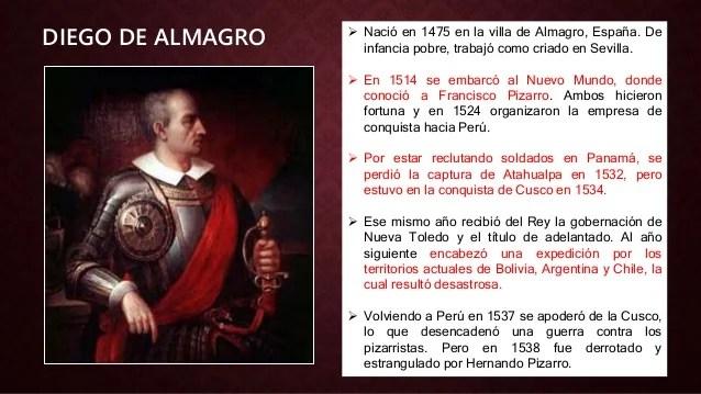 Resultado de imagen para Fotos de Diego de Almagro