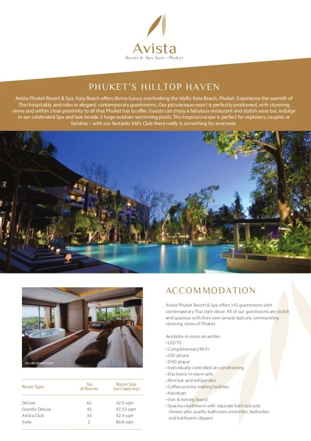 Hotels in Phuket   Fact sheet avista phuket resort   spa PHUKET S HILLTOP HAVEN Thai hospitality and relax in elegant  contemporary  guestrooms