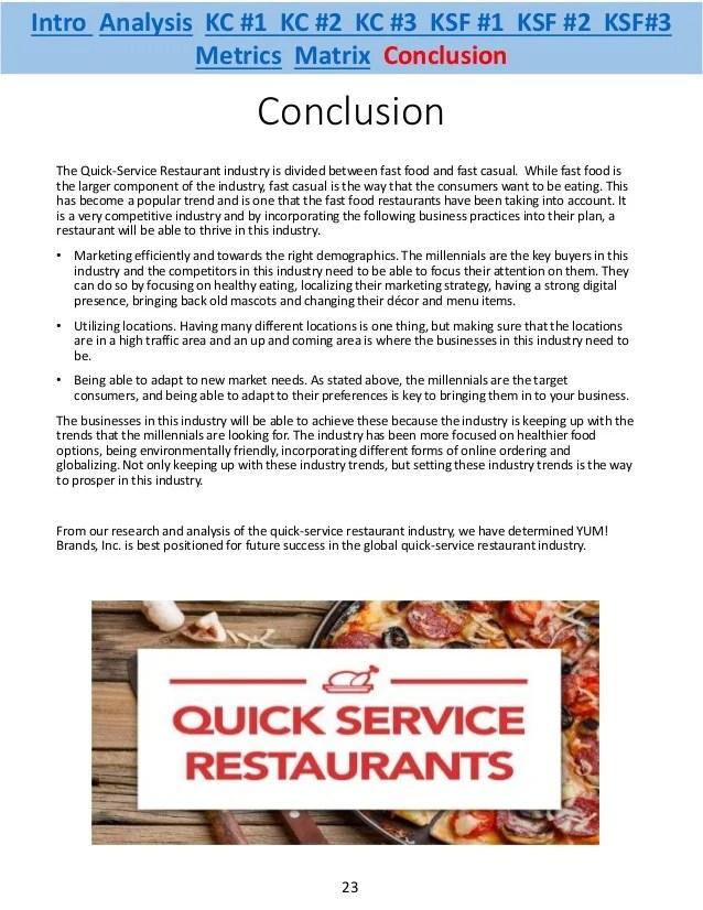 Quick Service Restaurant Industry Analysis