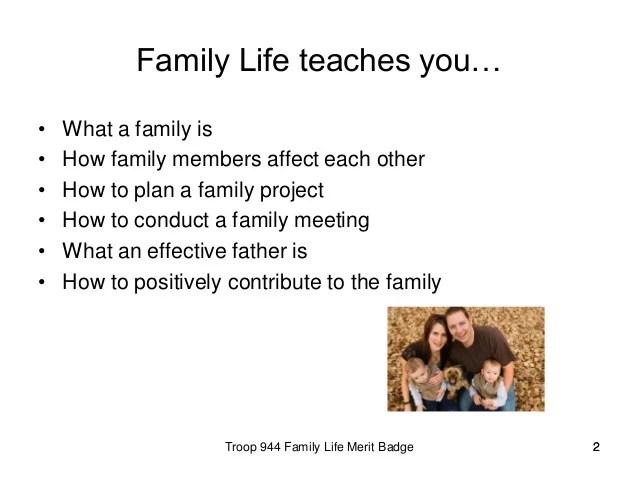 Family Life Worksheet Merit Badge – Best Life 2017