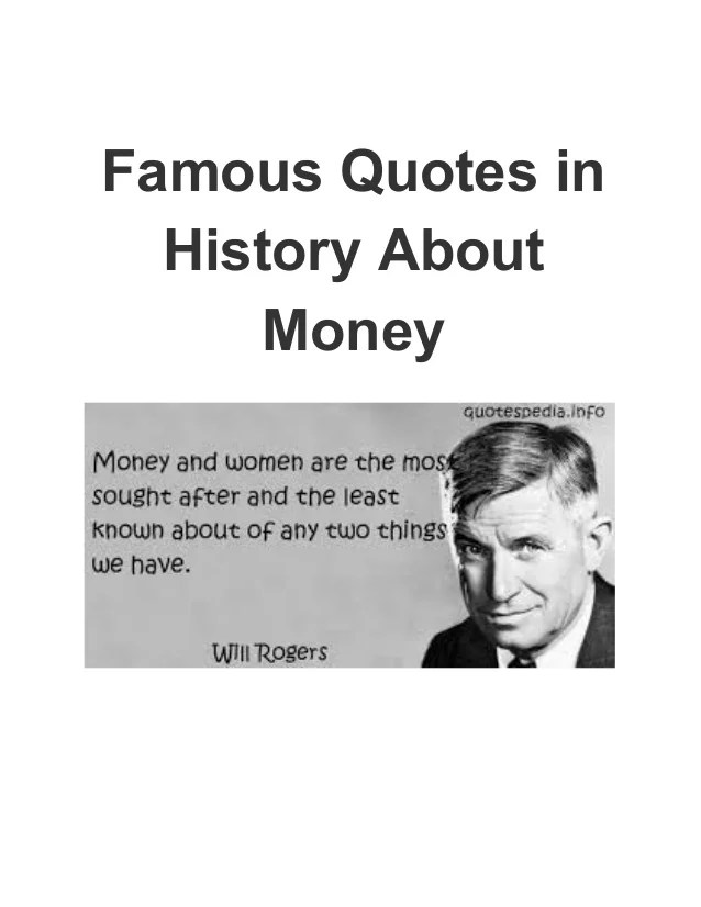 Famous Quotes In History About Money