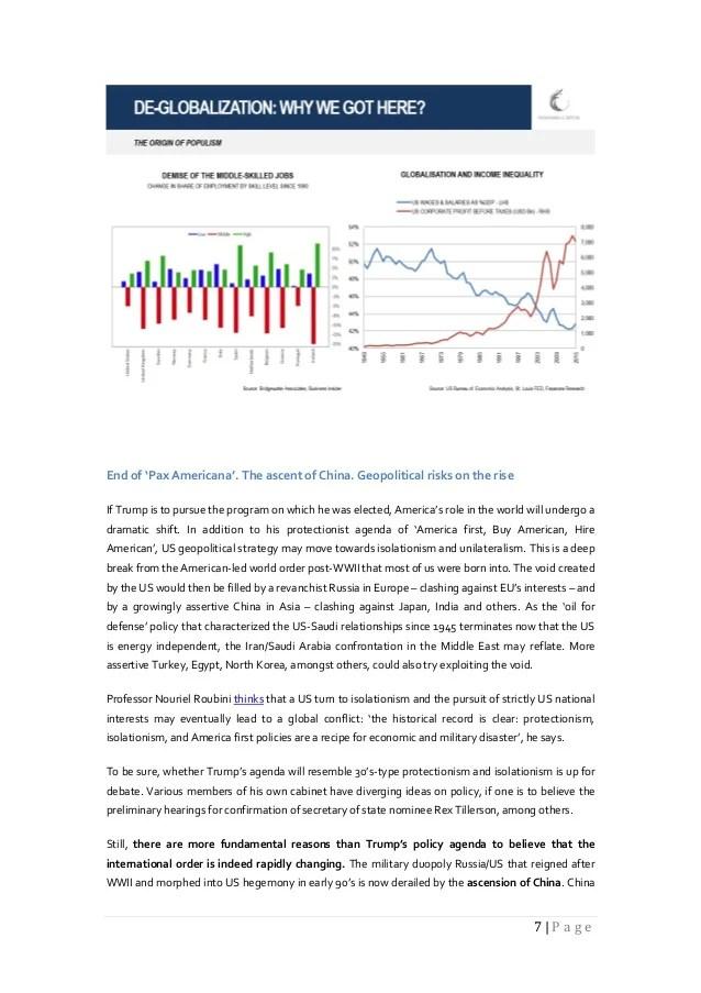 Fasanara Capital Investment Outlook January 17th 2017