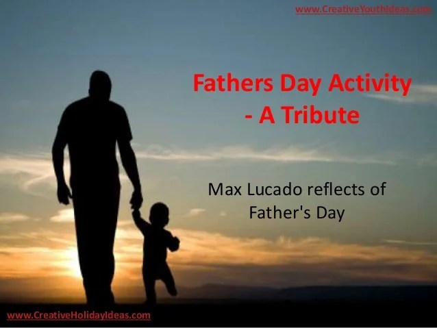 Fathers Day Activity - A Tribute