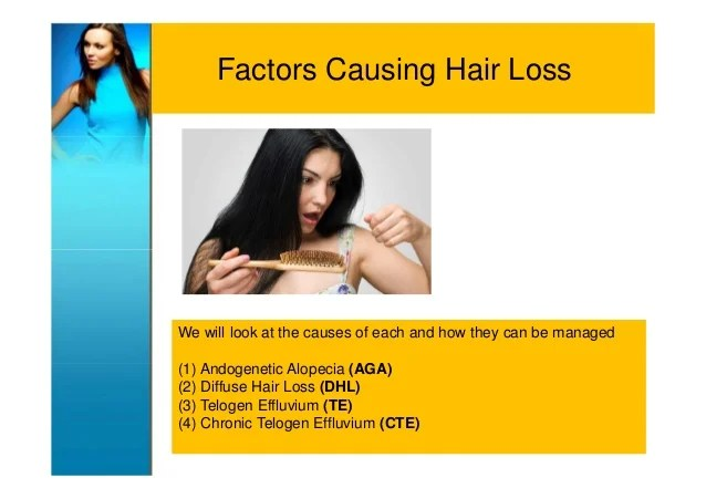 Female hair loss (causes and management)