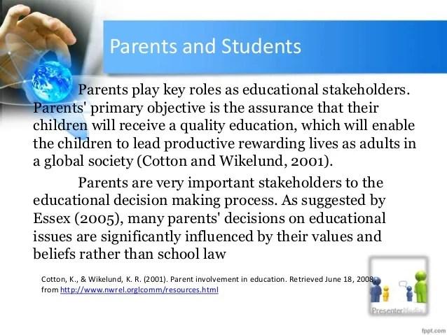 Stakeholders Education
