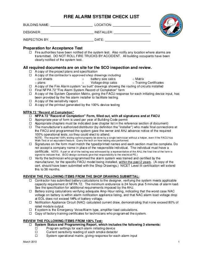 fire alarm installation certificate template - printable monthly fire extinguisher inspection form