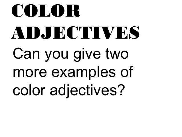 ADJECTIVES TO DESCRIBE ANIMALS  Auto Electrical Wiring