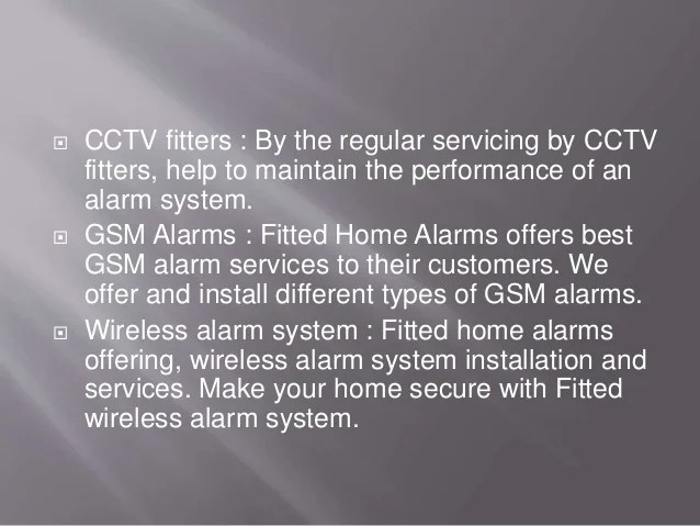 Wireless House Alarms Fitted