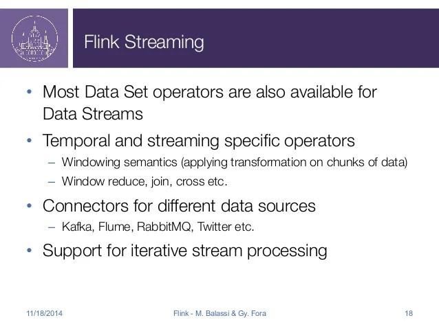 Flink Apachecon Presentation
