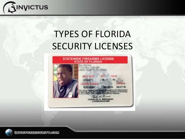 Florida Security Officer License