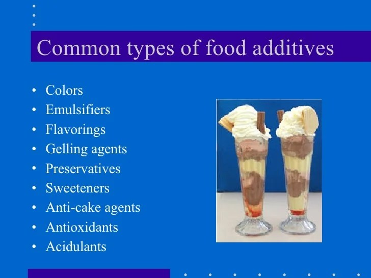 Types Cake Preservatives