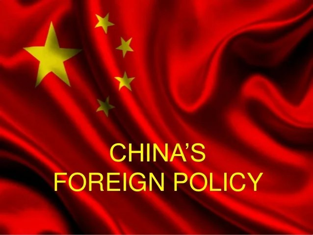 Foreign policy of china