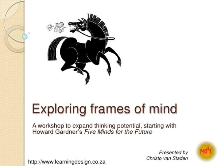 Howard Gardner The Five Frames Of Mind   Viewframes.org