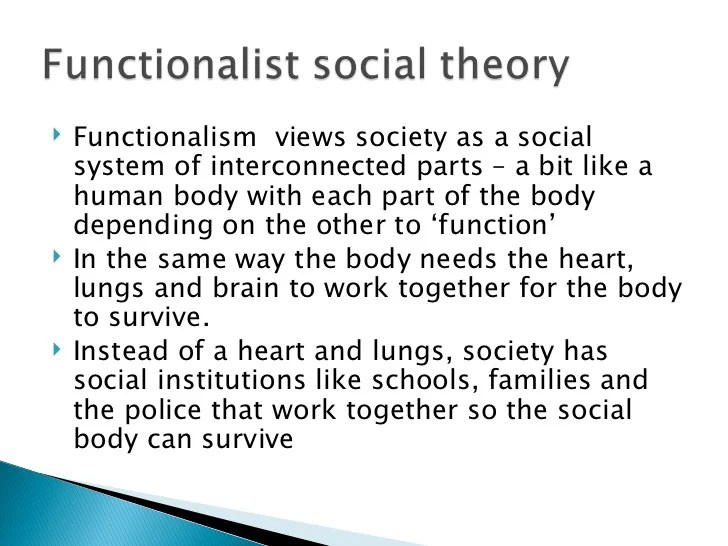 the structural functionalist perspective