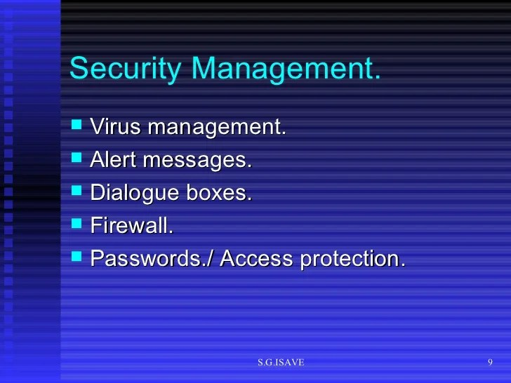 Functions Security Management