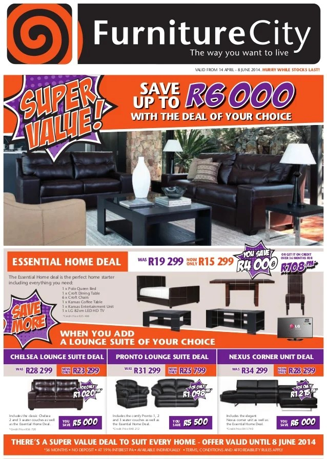 You can also receive a $700 credit for an adjustable bed with a mattress upgrade. Furniture City Super Value Catalogue