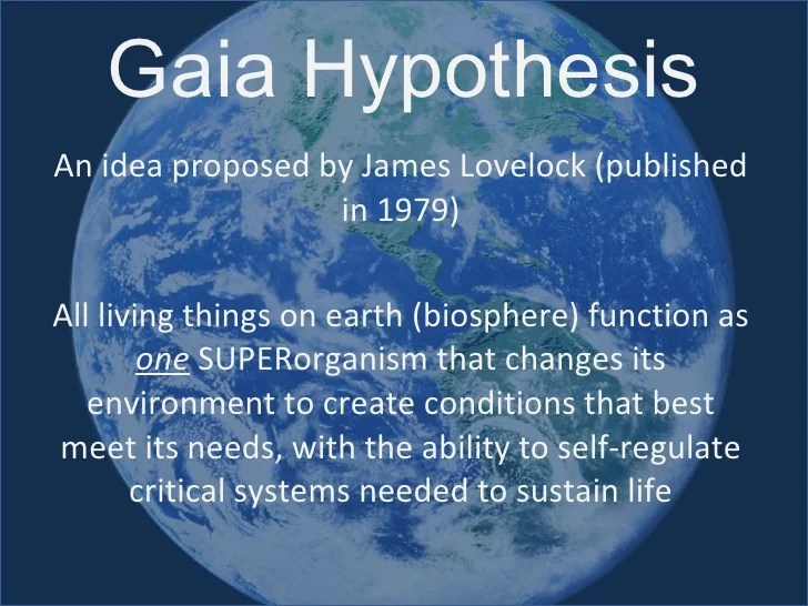 Image result for gaia hypothesis