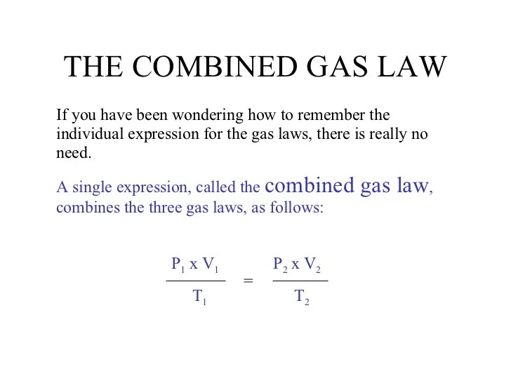 Solve Combined Gas Law Example