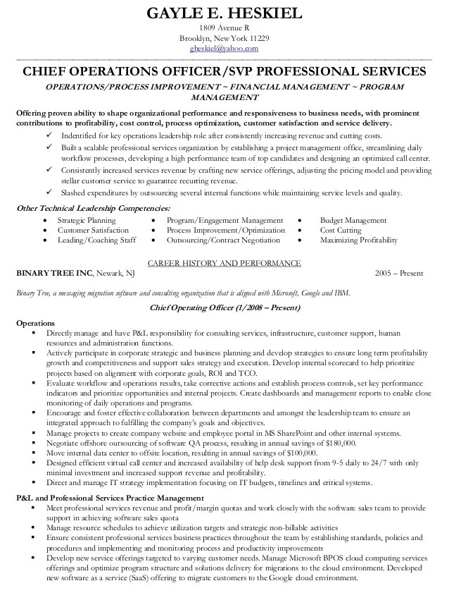 Chief operating officer job description - Chief operating officer coo average salary ...