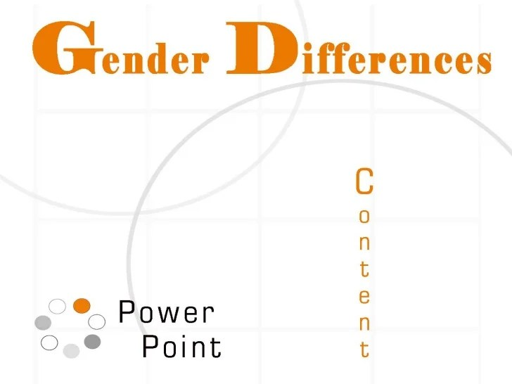 GENDER DIFFERENCES POWERPOINT