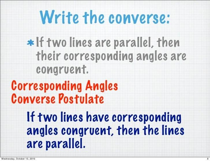 Alternate Interior Angles Converse