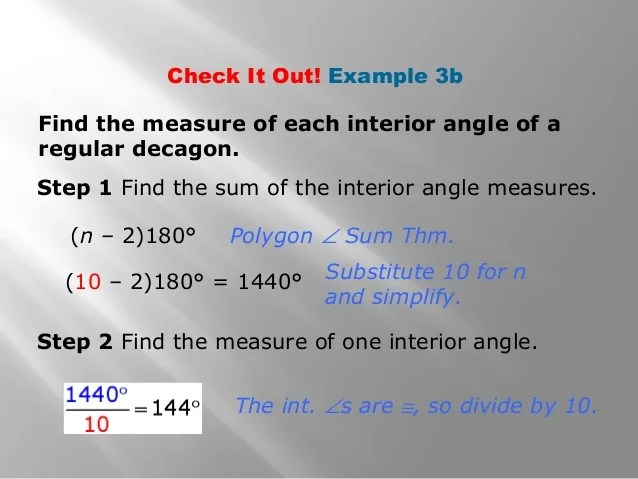 Consecutive Interior Angle