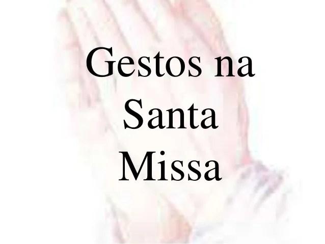 Resultado de imagem para gestos na missa