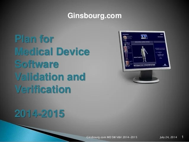 Ginsbourg Com Presentation Of A Plan For Medical Device