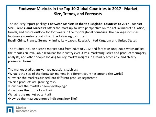 Footwear Markets in the Top 10 Global Countries to 2017 ...