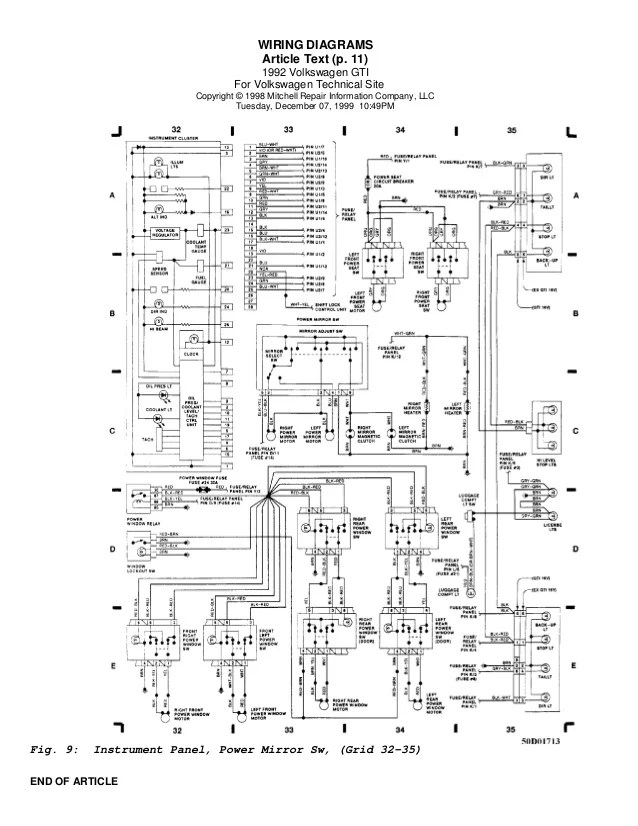 Golf 92 wiring diagrams (eng)