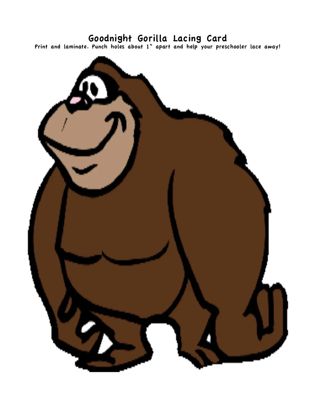 Goodnight Gorilla Printables