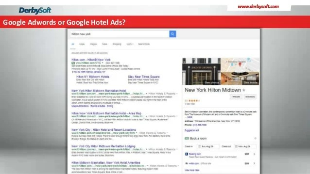 Your Hotel on Google Metasearch