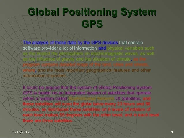 Gps( global positioning system) 2010