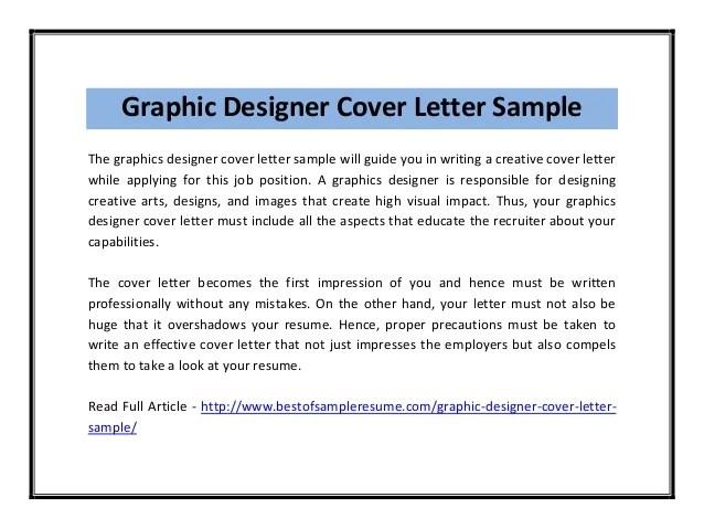 Graphic Designer Cover Letter Graphic Designer Cover Letter Sample