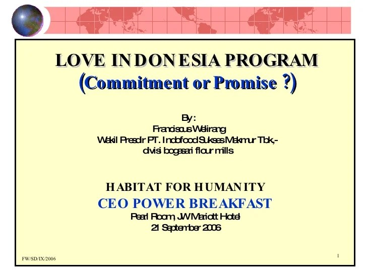 Love Indonesia Program