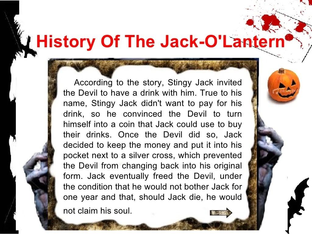 History Of The Jack O Lantern According