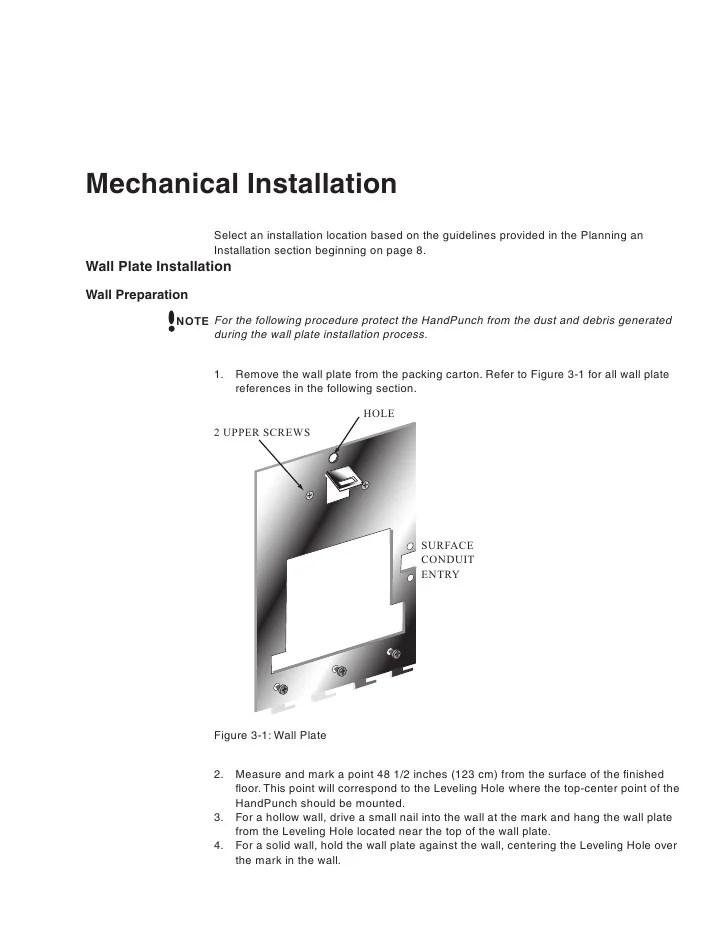 HandPunch 1000 Manual