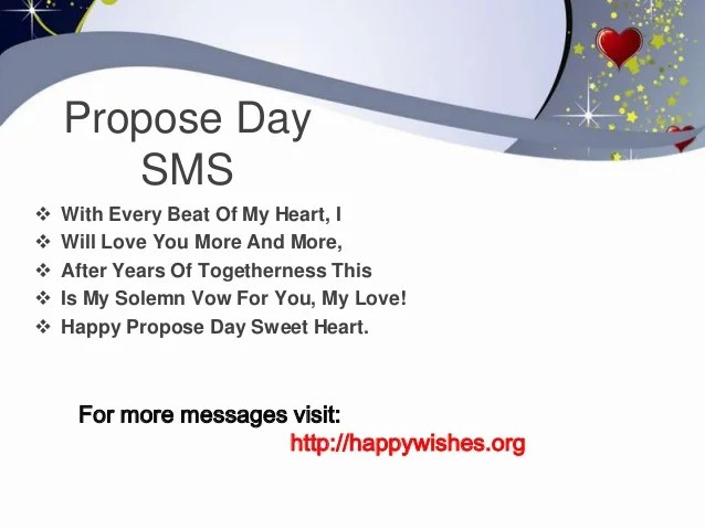 propose day sms messages
