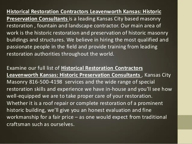 stone dutchman historical restoration contractor kansas historic preservation consultants160722215132 2 638 Dutchman Stone Repair According to ASTM E2659 09