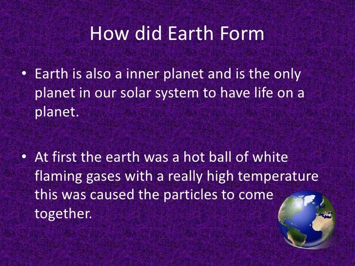 History of our solar system