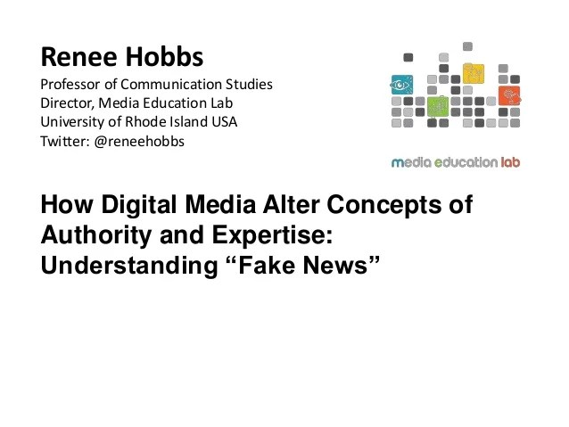 How Digital Media Alter Concepts of Authority and ...