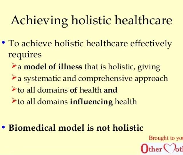 Achieving Holistic Healthcare
