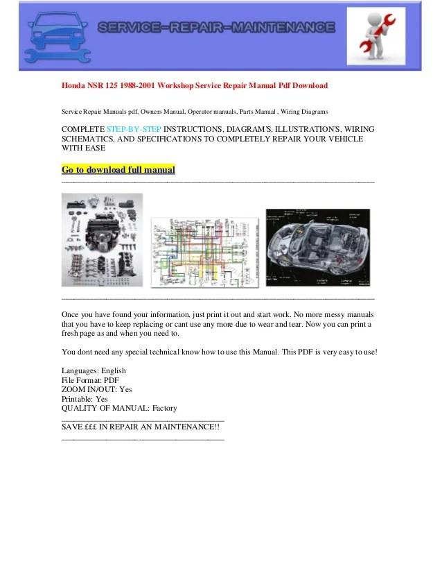 Honda nsr 125 1988 2001 electrical wiring diagram pdf download