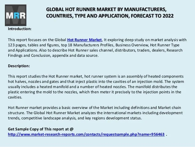 Hot Runner Market 2017 by Global Trends, Type, Countries ...