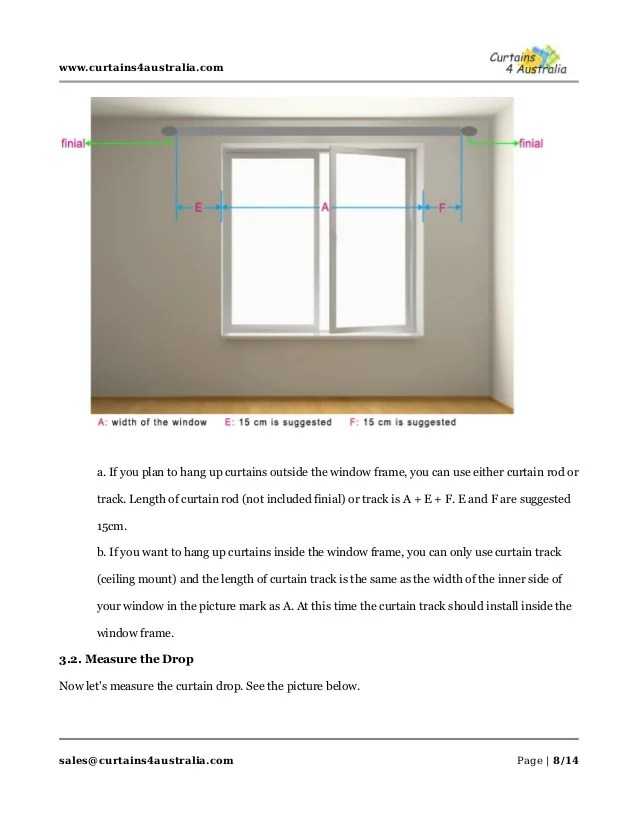 how to measure curtains and rods